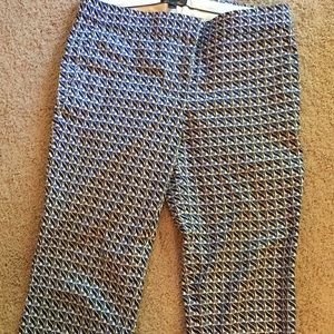 JCrew Graphic pattern ankle pants